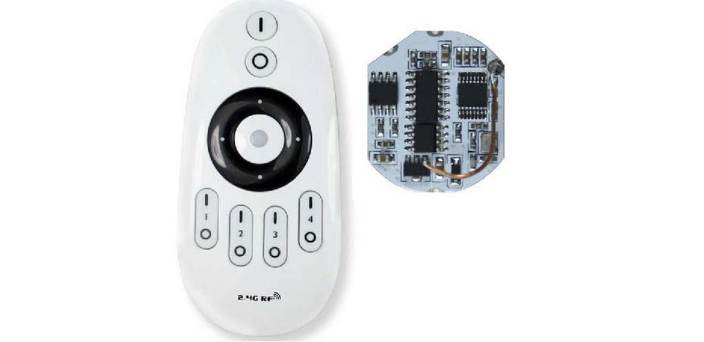 优势供应2.4G无线调光调色温球泡灯遥控器方案和模块